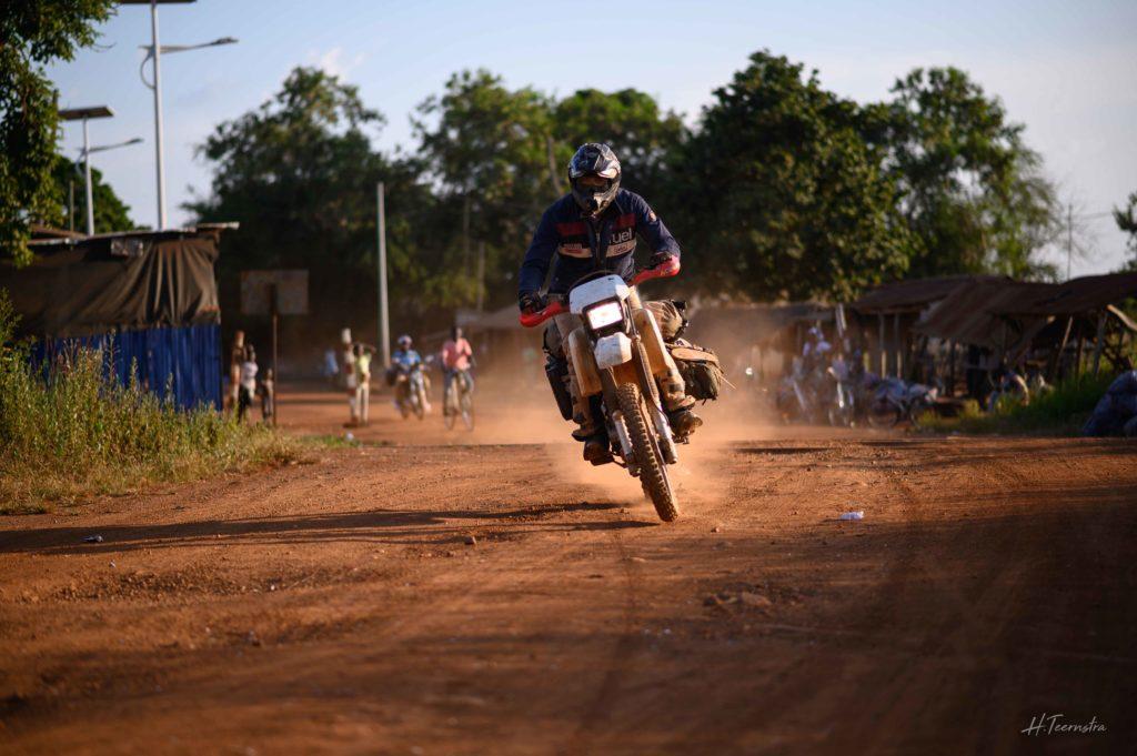 Motorcycle dirt road fast